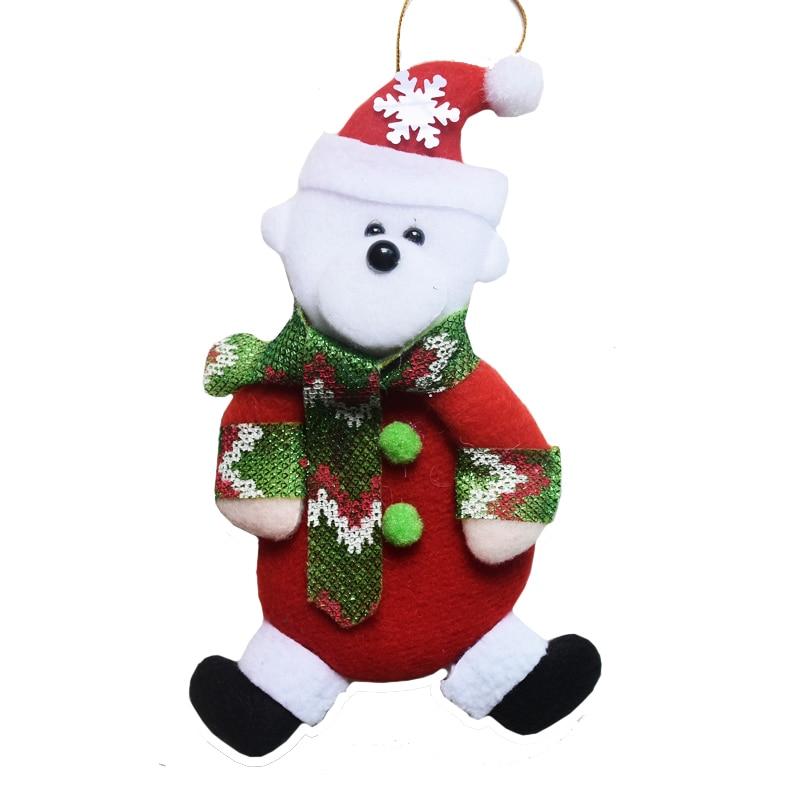 4pcs/lot Christmas Tree Decorations Santa claus Snowman Christmas Gifts Hanging Ornaments Drop Pendant Baubles for Home DS22