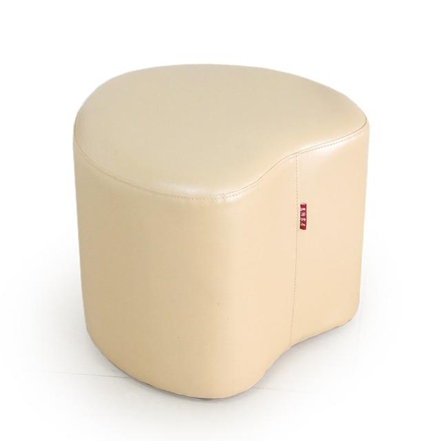 Hot sale high quality modern fashion shoes stool creative heart-shaped leather sofa stool free shipping
