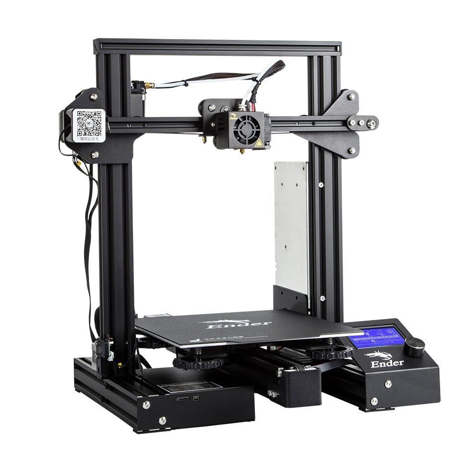 Creality Ender-3 Pro v-slot Prusa I3 3D imprimante kit de bricolage mis à niveau caimant plaque de construction reprendre puissance MK10 extrudeuse/nivellement Simple