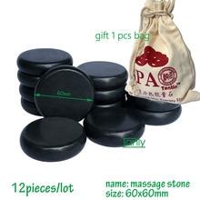 Free shipping! wholesale 14pcs/lot Hot Stone Therapy Power Rock stone massage body stone/ size 6x6cm