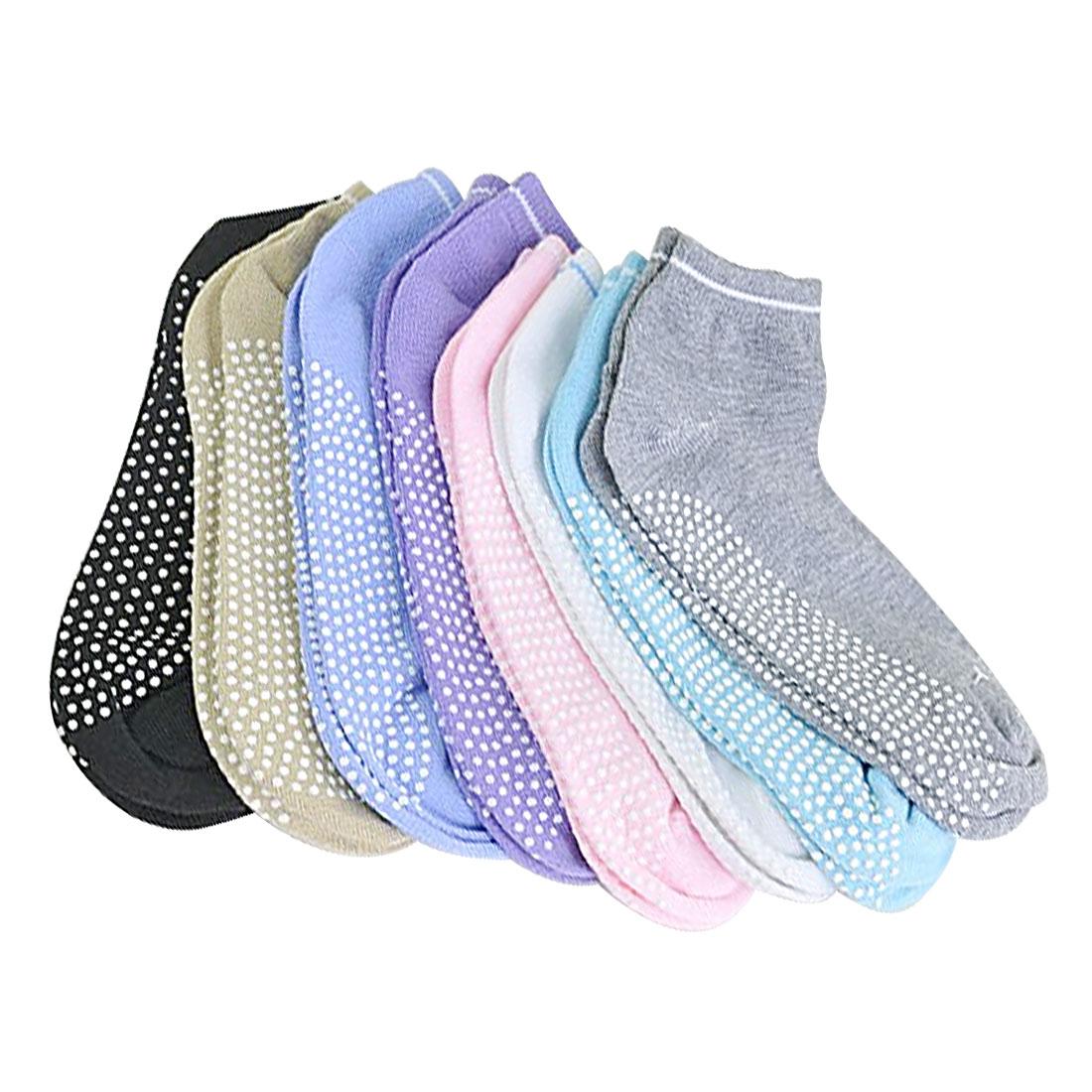 New Women Fitness Cotton Gym Sports Socks Non Slip Massage Yoga Pilates Socks 6 Colors New