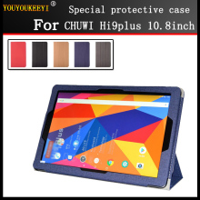 цена на Case for CHUWI Hi9 plus 10.8 inch tablet pc Fashion 3 fold Folio PU leather Stand cover case for chuwi hi9plus + Stylus + Screen
