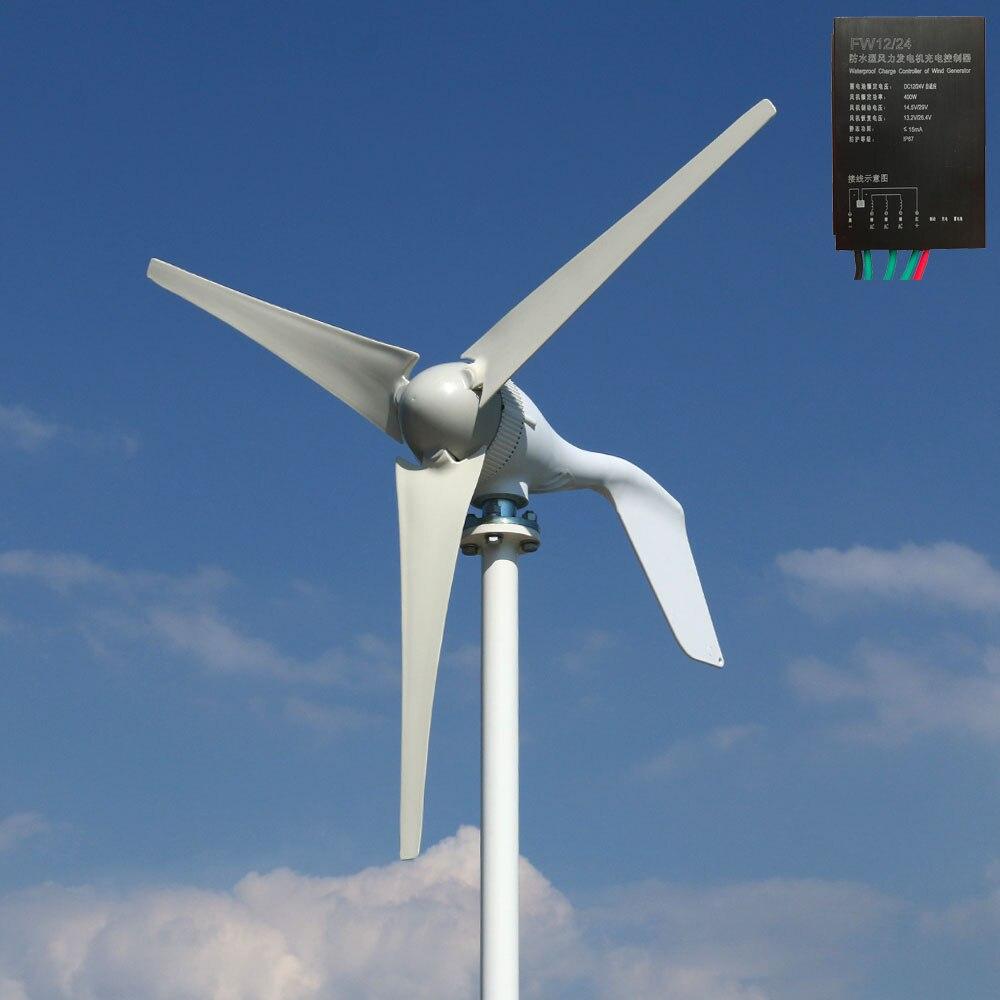 Espagne expédition 1.3 m démarrage triphasé AC 12 v 24 v 48 v éolienne avec 12 V 24 V Auto régulateur usage domestique 400 w éolienne