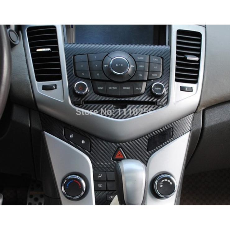 Autocollant de panneau de Console centrale de voiture d'autocollant de voiture de vinyle de Fiber de carbone d'aliauto spécial conçu pour Chevrolet Chevy Holden Cruze