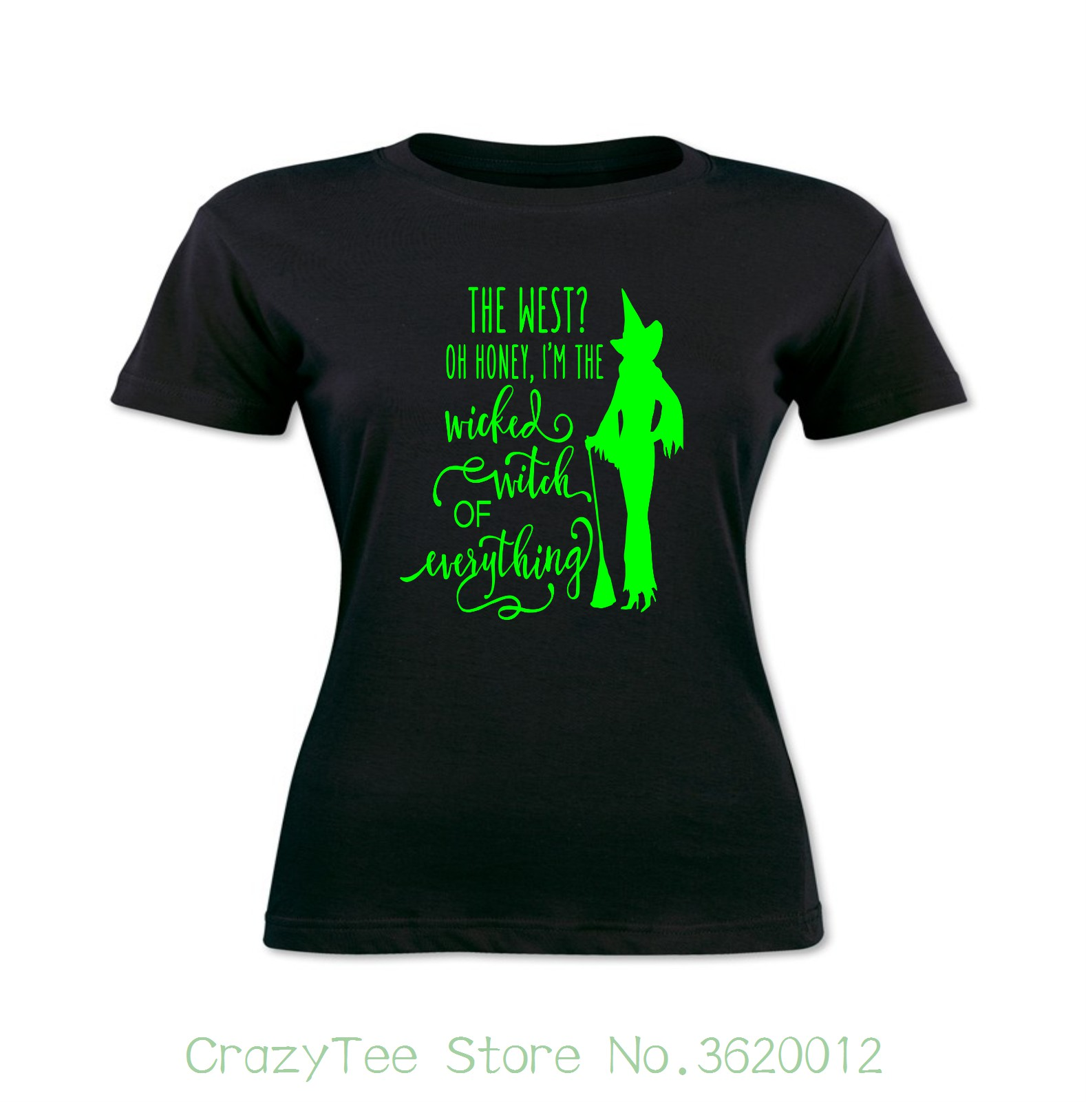 Women S Tee Women S T Shirt Wicked Witch Of Everything Witchcraft