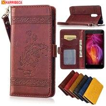 Luxury vintage Flip leather cover for xiaomi redmi note 4 case retro flower wallet fundas redmi note4 capa etui puzdra husa tok
