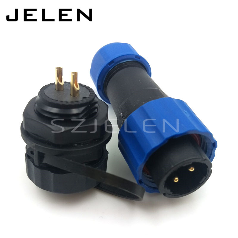 SD16 2 pin Waterproof Connector IP68, LED panel mount connectors,automotive connectors, Solar energy cable connector plug socket lemo 1b 6 pin connector fgg 1b 306 clad egg 1b 306 cll signal transmission connector microwave connectors