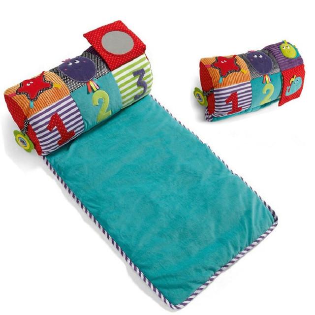 Tapetes de Jogo Do Bebê Engatinhando Tapete Infantil Tapete Almofada de algodão Macio Crianças Jogo Brinquedo Cobertor Dobrável Como Travesseiro Com Vara Molar