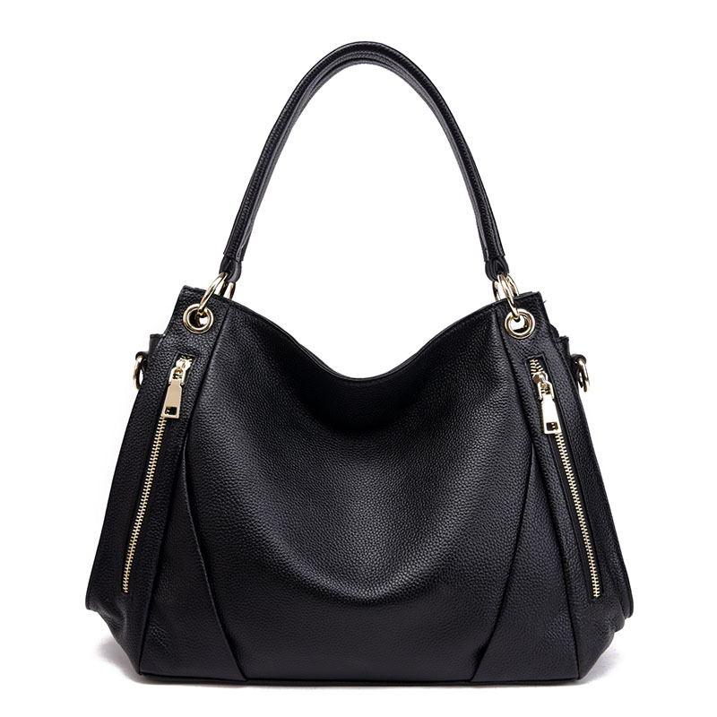 Women Genuine Leather Handbags Shoulder Crossbody Bags Cow Leather High Quality Fashion Solid Zipper Soft Thread Totes Versatile 2015 famous brand women bag fashion qiwang genuine leather high quality women totes handbags women solid zipper crossbody bags