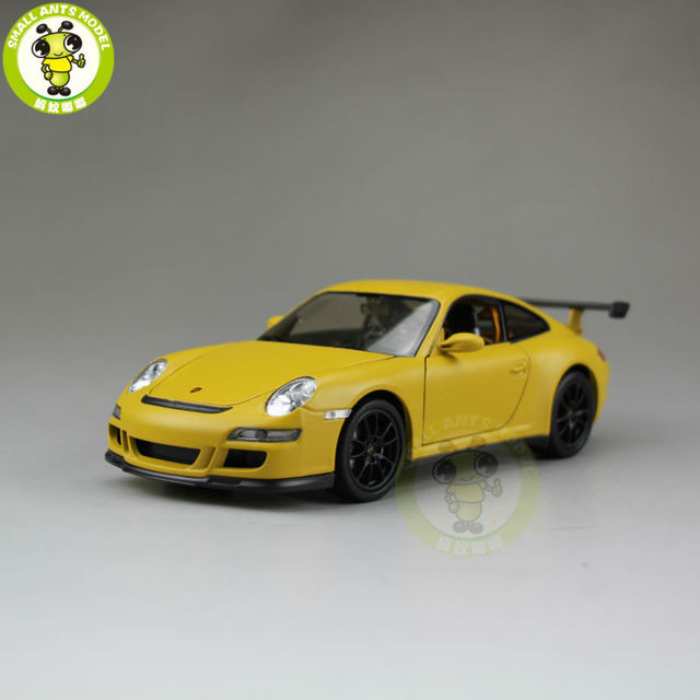 1/24 911 997 GT3 RS Welly 22495 Diecast Model Racing Car Matte Yellow