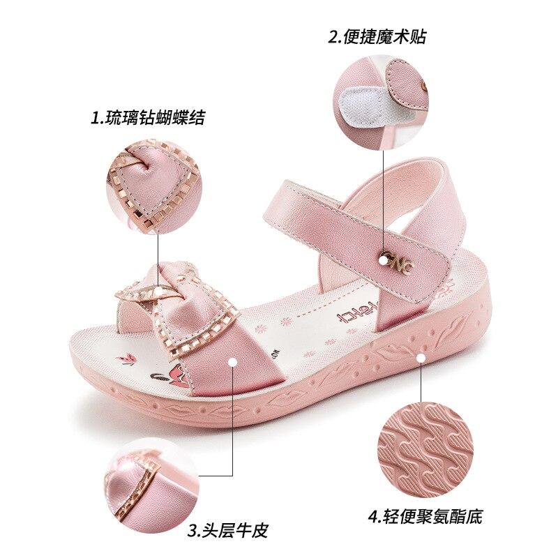 Kadingtong Letnie dziecięce buty dla dziewczynki Księżniczka Party - Obuwie dziecięce - Zdjęcie 5