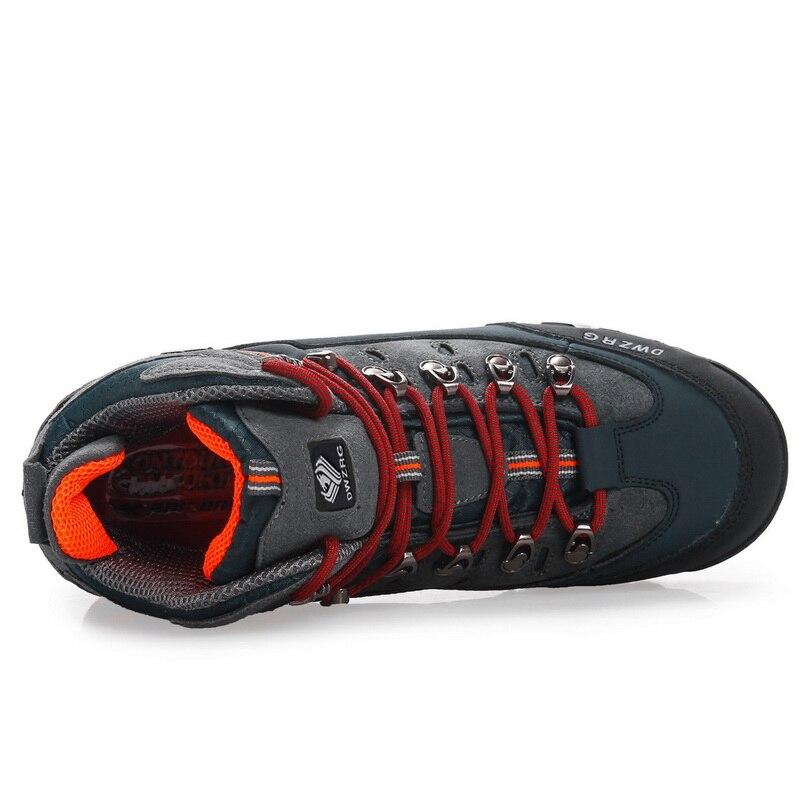 Chaussures de randonnée pour hommes chaussures en cuir imperméables chaussures d'escalade et de pêche nouvelles chaussures de plein air populaires - 5