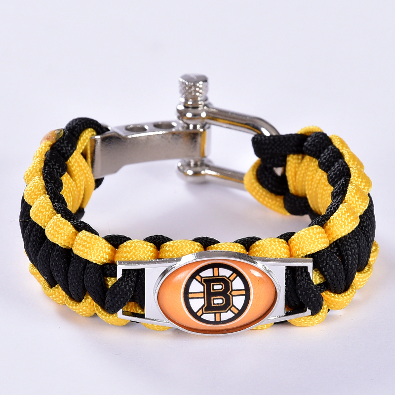 Boston Bruins Custom Paracord Bracelet NHL Team Hockey Bracelet Survival Bracelet, Drop Shipping! 6Pcs/lot! ...