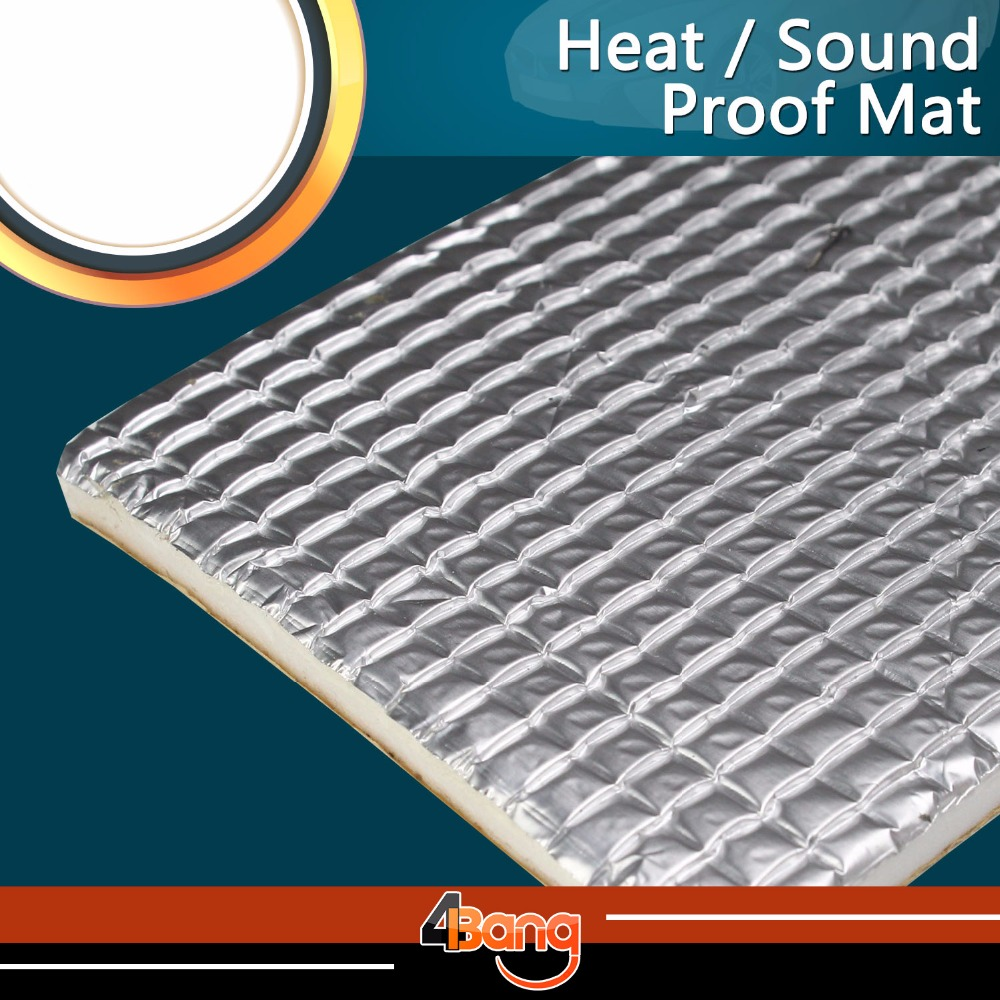 Car-Styling 100*100cm Heat Killer Noise Deadener Sound Insulation Muffler Aluminum Foil Shield Mat Front Fender Self-Adhesive