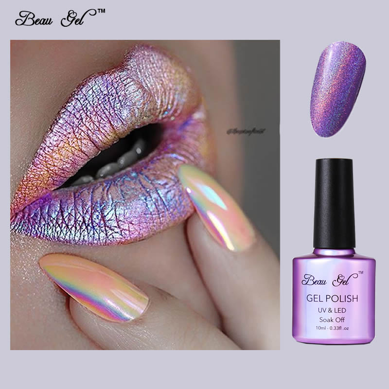 Beau Gel Nail Gel Polish UV Soak Off 10ml Rainbow Nail