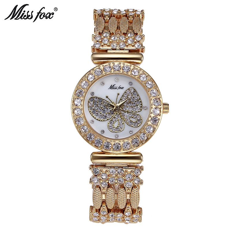 Miss fox 2030 women's watches ladies quartz watch lady Wristwatches top brand luxury rose gold clock butterfly relogio feminino зонт трость двусторонний с деревянной ручкой printio акварельный