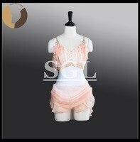 Bale Şifon Etekler Kızlar Kısa Etek Dans Giyim Bale Gösterisi Için Çocuk/çocuk Boyutu Dansçı Kostümleri Modern Dans elbise AT1266