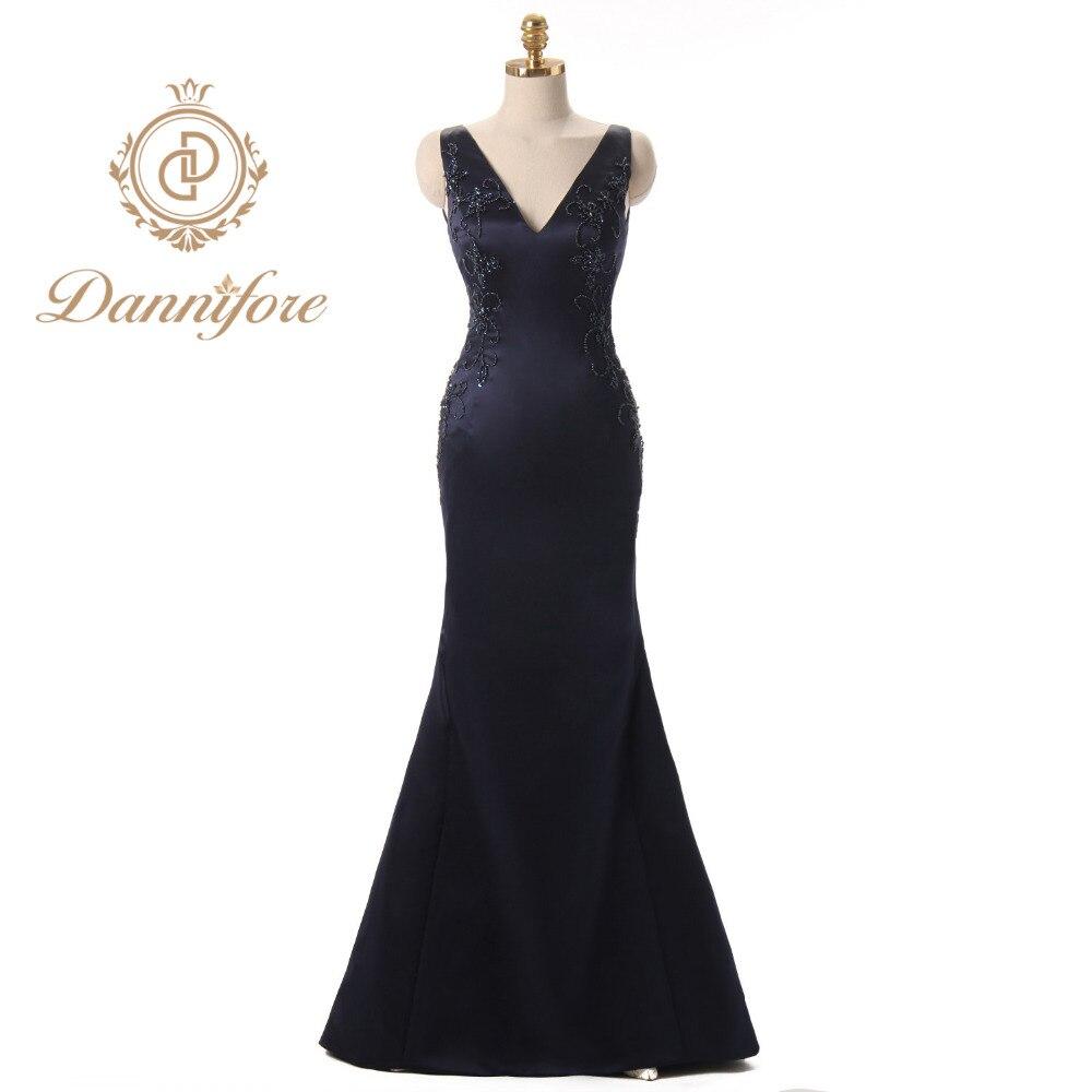 Dannifore Long Mother of The Brides Dress Plus Size Evening Dress ...