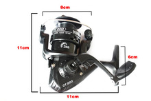 Super cheap model CT200 mini spinning fishing reel with 3BB ratio 5.2:1 right left handle interchangeable