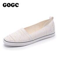 GOGC 2018 New Slipony Women Shoes With Hole Breathable Footwear Flat Shoes Women Fashion Women Sneakers
