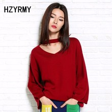 HZYRMY Spring Autumn New Women Cashmere Sweater Fashion Loose large size V-Neck Solid color Wool pullovers Long sleeve Sweaters