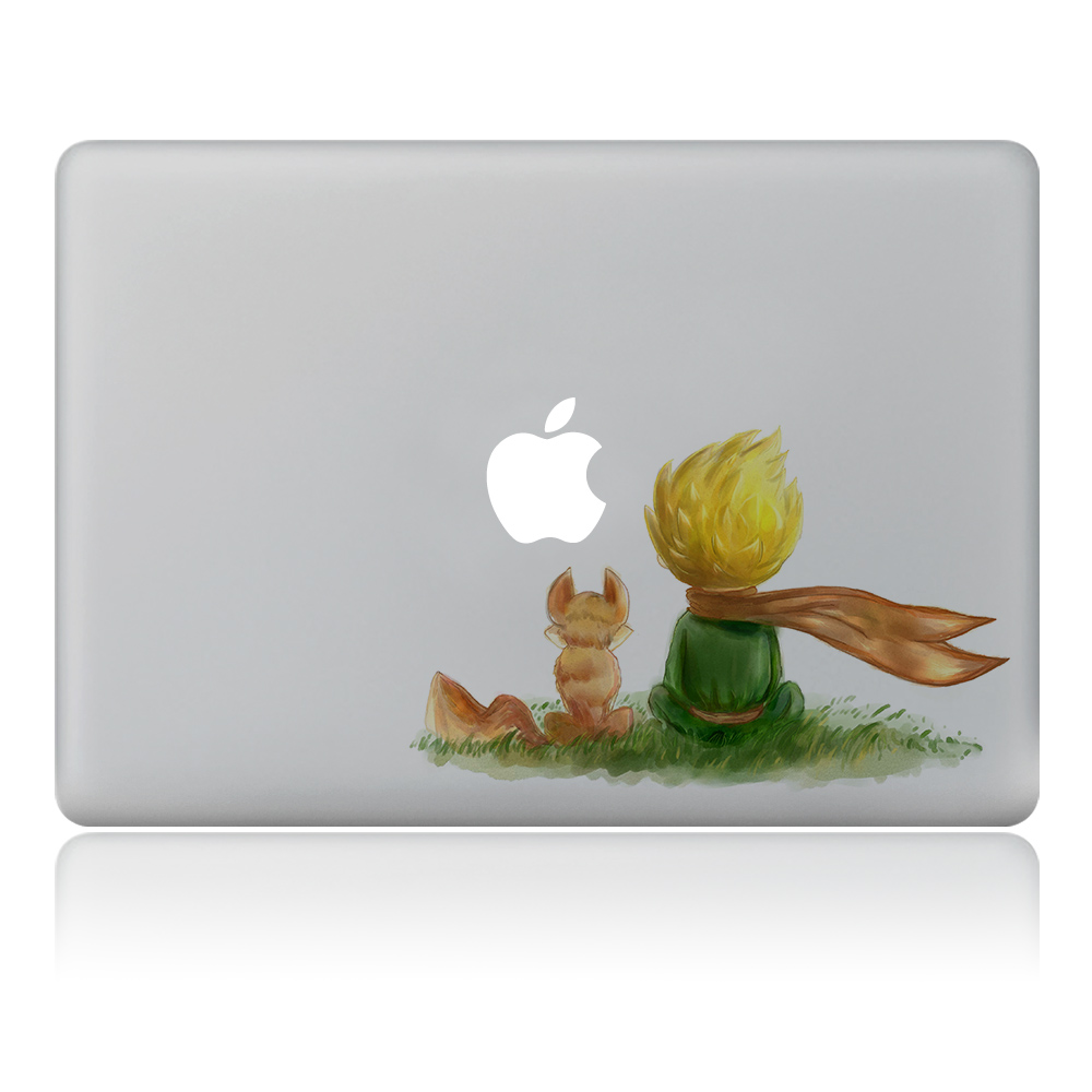 little Prince friend Vulture style Vinyl Decal Laptop Sticker For DIY Macbook Pro Air 11 13 15 inch Laptop Skin keep calm and nevada on 22x11 inches vinyl car sticker symbol silhouette keypad track pad decal laptop skin ipad macbook window truck motorcycle