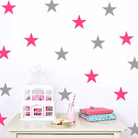 Five Pointed Star Wall Decals Quotes Vinilos Adhesivos Decorativos Pared Wall Stickers Home Decor Living Room