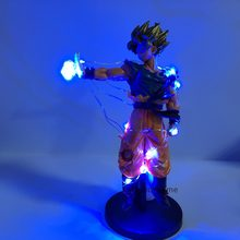 Lampara dragon ball goku super saiyan nightlights dragon ball z lâmpada de mesa dbz anime lâmpada para decoração(China)