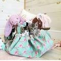 Lindo Flamingo bolsas bolsa de almacenamiento manta juguete grande puede se utiliza cuando la alfombra para niños de almacenamiento de juguete bolsa