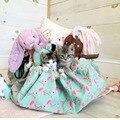 Sacos de lona saco de armazenamento cobertor grande brinquedo Flamingo bonito pode ser usado quando os sacos de tapete para crianças armazenamento de brinquedo saco