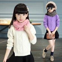 Autumn female child sweater child autumn sweater children's clothing big boy 5 6 long-sleeve girls apparel 8-9-10 – 12