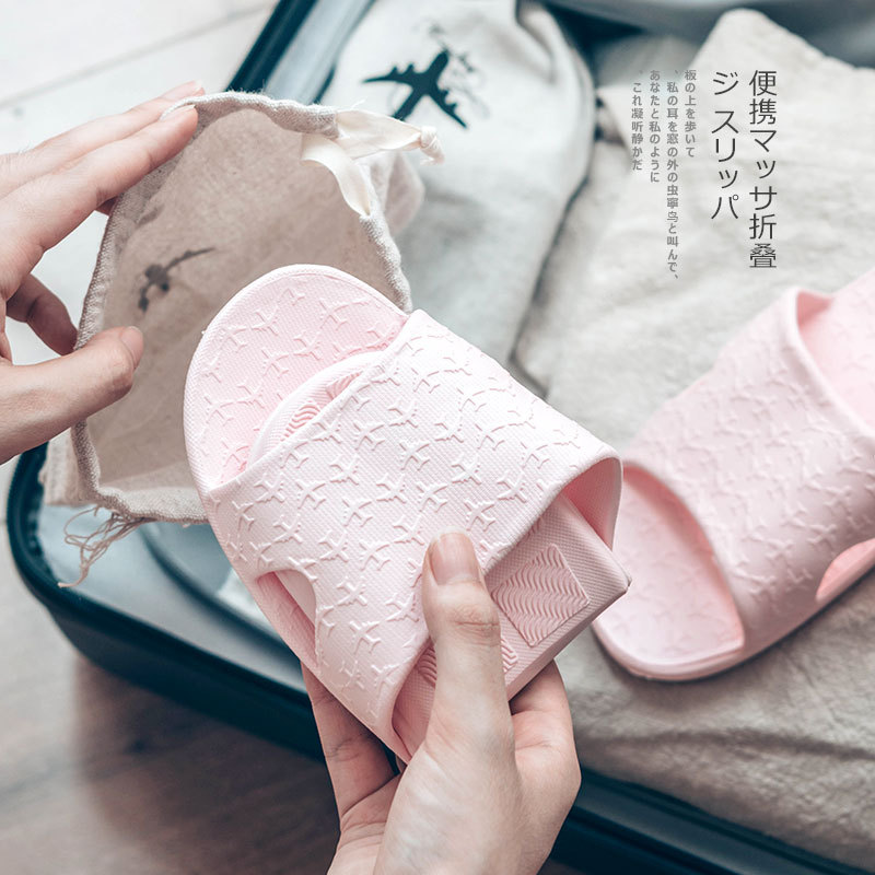 EVA couple folding Travel slippers Japanese fashion Slippers women Bathroom slippers simple indoor sandals mujer beach shoesEVA couple folding Travel slippers Japanese fashion Slippers women Bathroom slippers simple indoor sandals mujer beach shoes