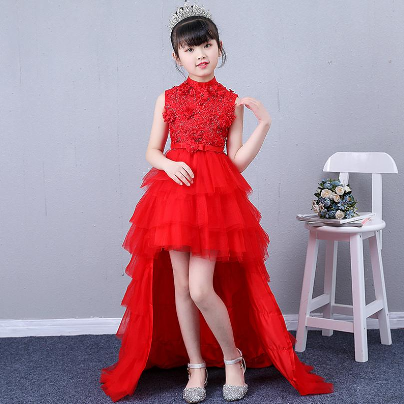 2019 New Children Girl Ball Gown Embroidery Trailing Princess Dress Toddler Wedding Party Evening Dress For Girls Vestidos Y12102019 New Children Girl Ball Gown Embroidery Trailing Princess Dress Toddler Wedding Party Evening Dress For Girls Vestidos Y1210