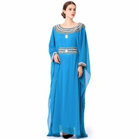 Islamic Clothing Embroidery Women Jalabiya Muslim Abaya Long Dubai Dress LF 16