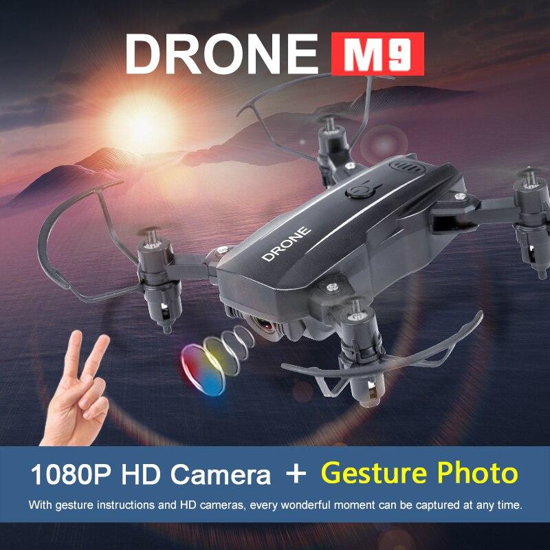Milhões de Pixels Versão Fixa Câmera Wi-fi Mini Folding Drone Fotografia Aérea Wifi Real-time Image Transmiss m9 5