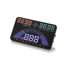S7 5.8 Pulgadas Car HUD Head Up Display HUD OBD II Parabrisas Proyector Alarma de Falla Del Motor de Velocidad Dinámico