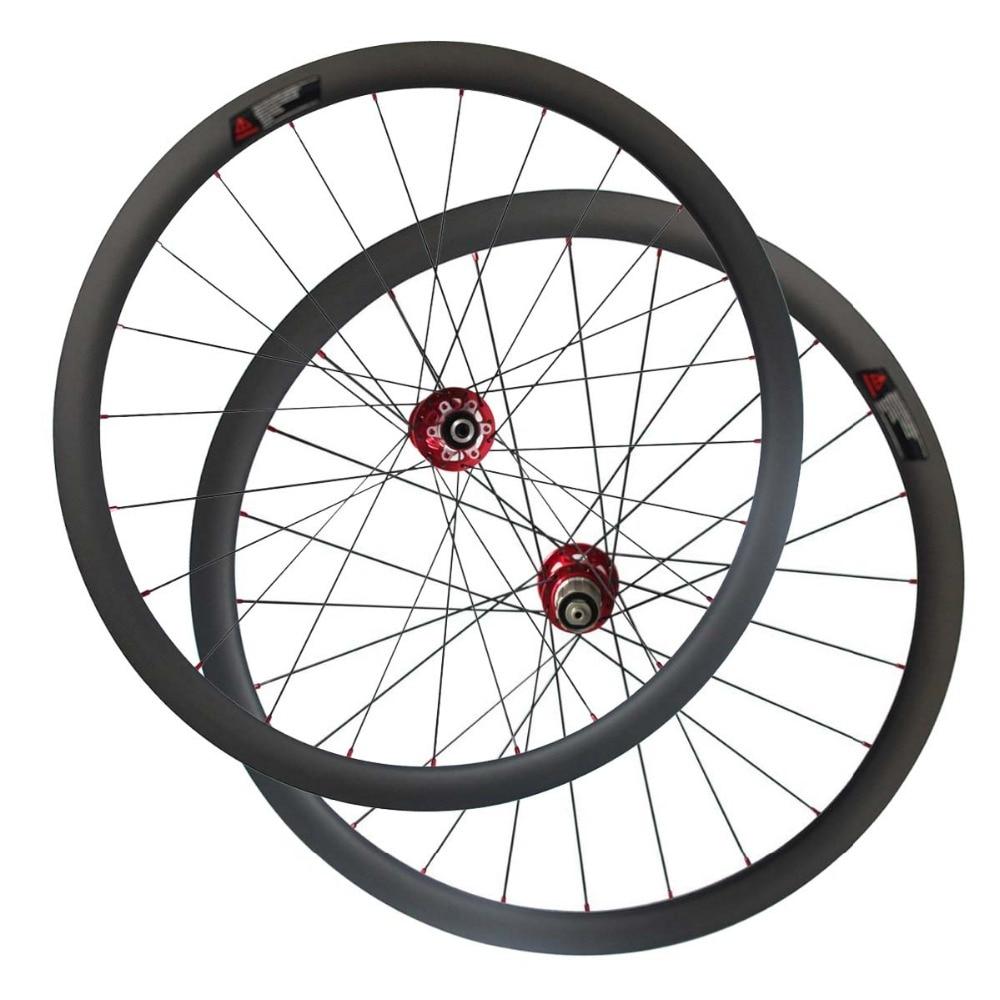 CSC 25mm width carbon 40mm tubeless Cyclocross Bike wheels with Novatec D791SB D792SB Disc brake hub