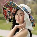 Women's Hats Fashion Sun Hats For Women Wide Brim Floppy Beach Hat Female Foldable Sun Hat for Girl Y18