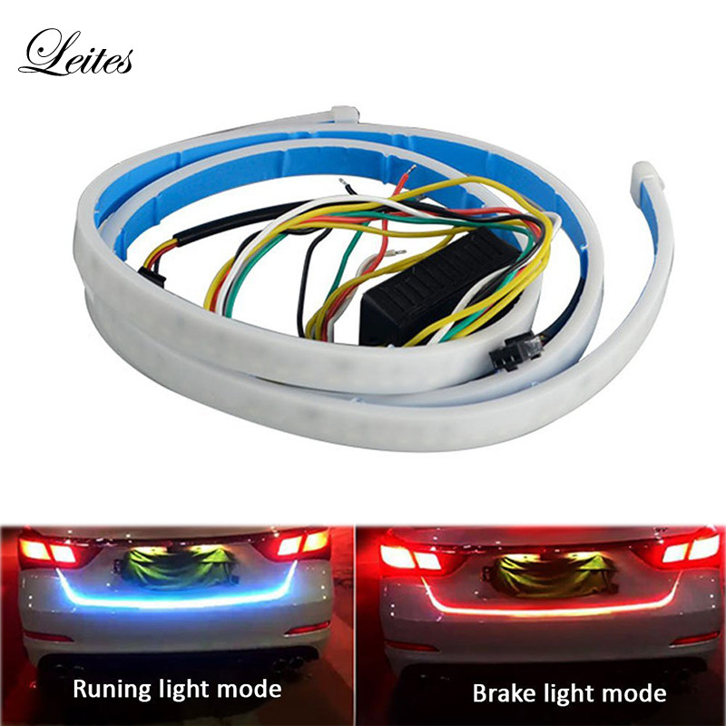 1 set 120cm 335 LED Dynamic Streamer Turn Signal Tail Box Trunk Lights Luggage Compartment Tailgate LED Warning Light Strips
