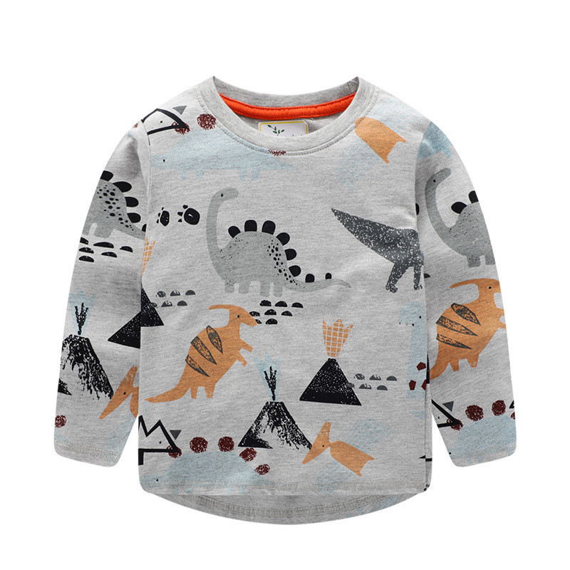 Jumping meters Top Brand Boys T shirts Baby Clothes Cotton Long Sleeve Tees Cartoon New Cute Boys Girls T shirts Autumn Clothing 4