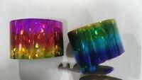 Rainbow Crush Roll 120m 4CM Nails Transfer Polish Glue Decorations Nail Foils Nail Art Laser