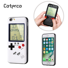 COTPRCO Game boy Tetris Case For iPhone X 8 7 6 Classic Gameboy Console Cover Protective TPU Case For X 8 8P 7 7P 6 Fitted Case hat prince protective tpu case cover w stand for iphone 6 4 7 grey