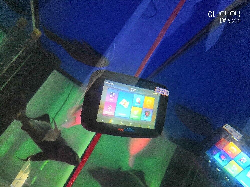 Fodsports 5 zoll Motorrad GPS Navigation Android 6.0 Wifi Wasserdichte Bluetooth GPS Navigator Auto Moto GPS IPX7 RAM 1G ROM 16G