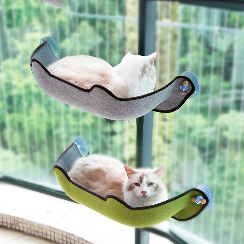 Home & Garden Cat Beds & Mats Cat Hammock Detachable Washable Hanging Cup Sucker Cat Sun Bed Glass Balcony Window Felt Cat Litter Cat Supplies