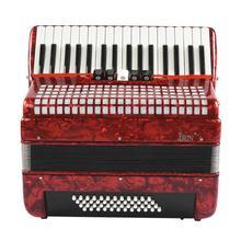 Красный 34 клавиши 48 бас ручной клавишный аккордеон для взрослых начинающих аккордеон аккордеонистская клавиатура музыкальный инструмент