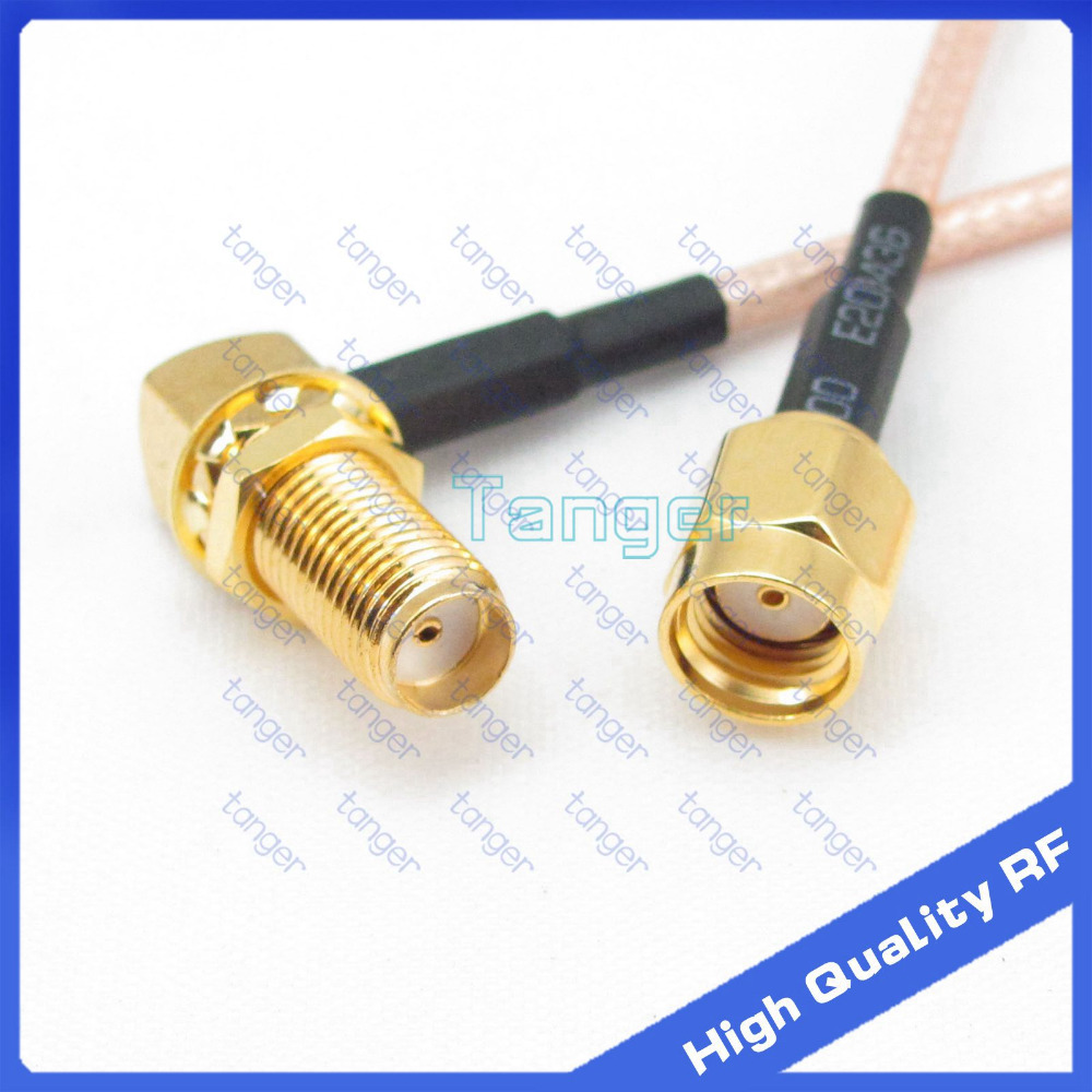8inch RG58 SMA male plug to SMA female jack RF Pigtail Jumper Cable 20cm