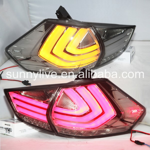 Clear Lens Led light For Nissan X trail Tail Lights 2014 2015 New Rouge LED Tail Light Rear Lamp