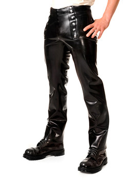 Latex Trousers Men's Latex Rubber Pants With snap-fasteners