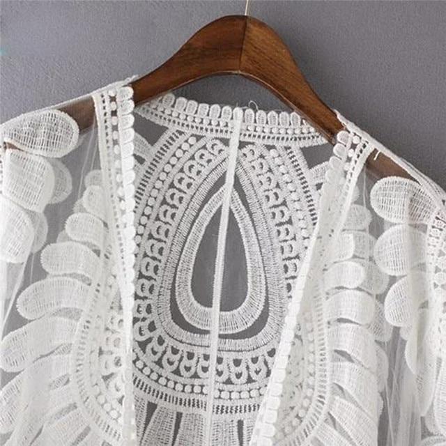 2020 paréo Plage couvrir fleur broderie Bikini couvrir maillots De bain femmes Robe De Plage Plage Cardigan maillot De bain couverture Ups
