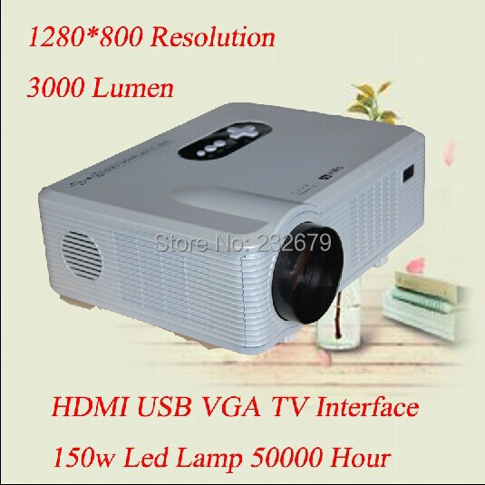 Portable 2 Speakers Build in 1280 800 Resolution Full hd 200 Inches Big font b Screen
